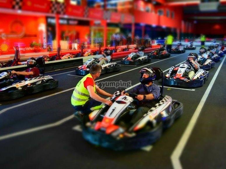 Briefing y comprobaciones en la carrera