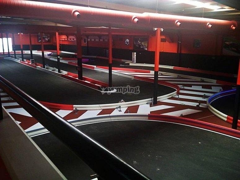 Karting indoor para empresas