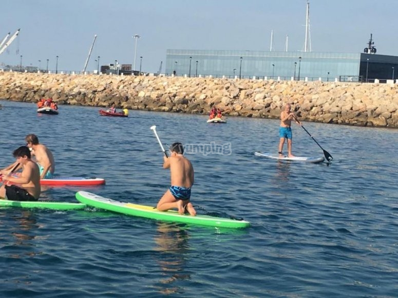 Paddle surfing practices