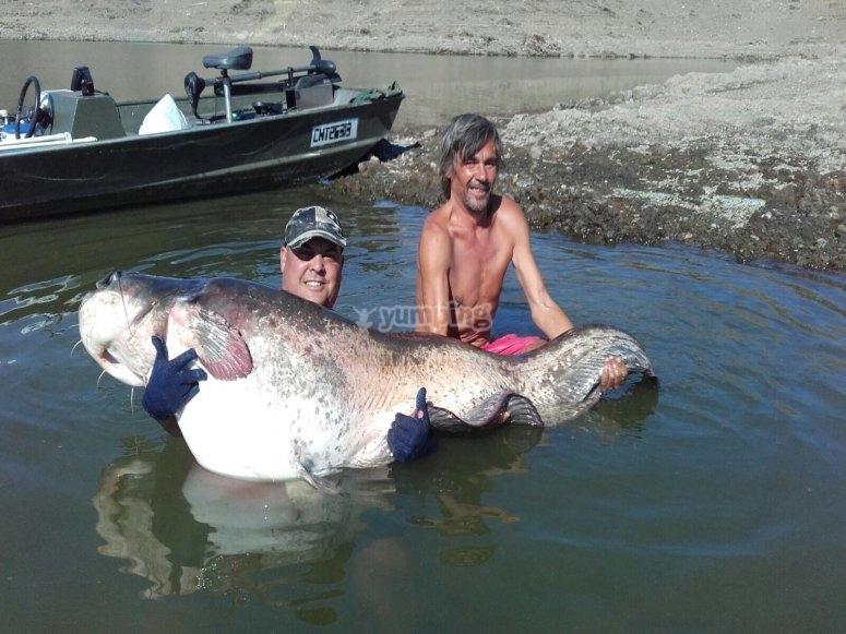 Sacando la pesca del agua
