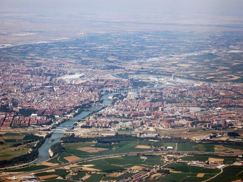Sesion de vuelo cerca de Zaragoza