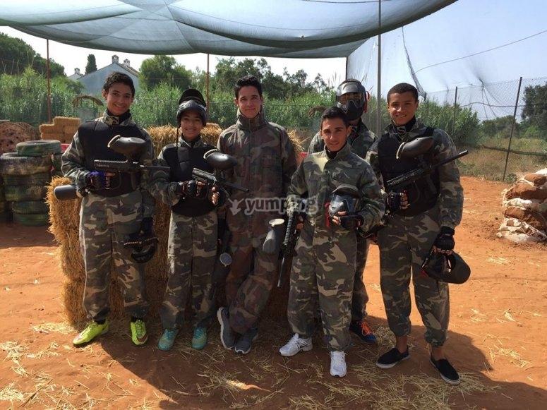 Escuadron装备战场组的玩家
