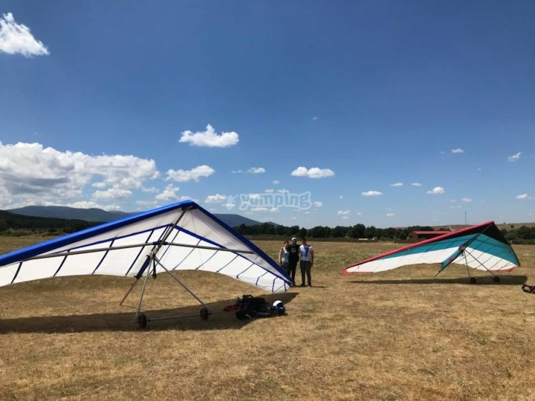 Field used for hang gliding