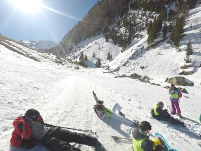 Snowshoes route for school children in Cerler