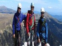 Equipo de guías de escalada