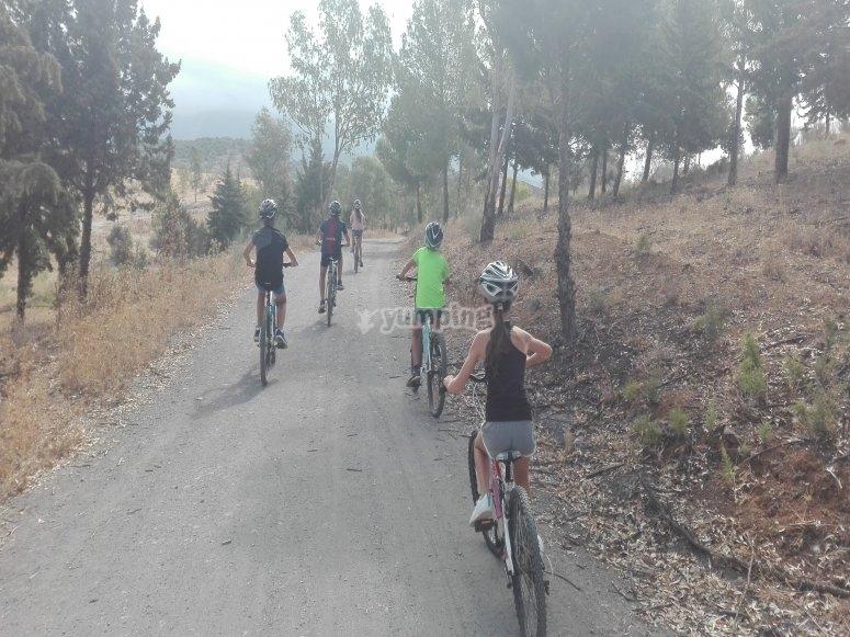 Ruta en familia con la bici