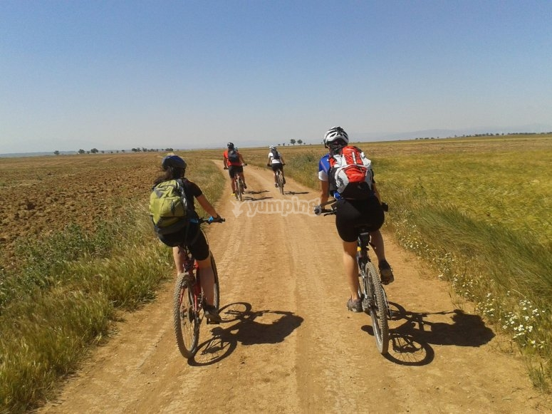 Caminos de Huesca adaptado a las bicis