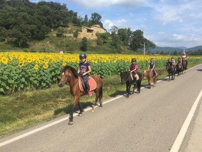 在La Garrocha骑马与照片和食物