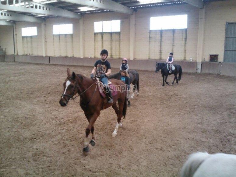 Montando a caballo en El Pardo