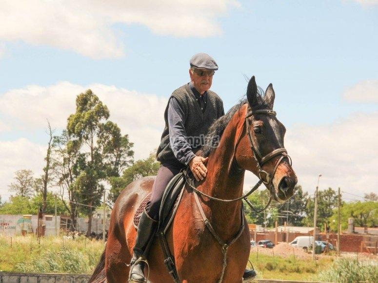 Equitacion senior en El Pardo