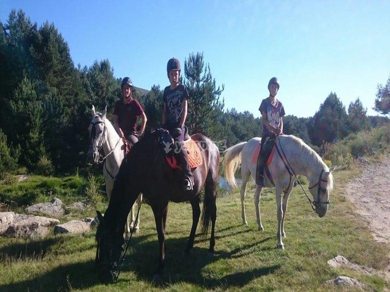 Montando a caballo en Madrid