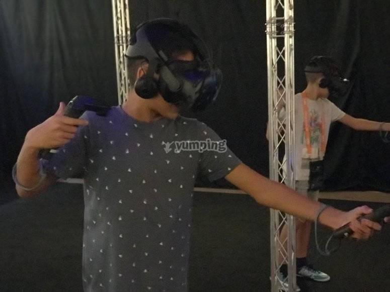 Jugando en realidad virtual