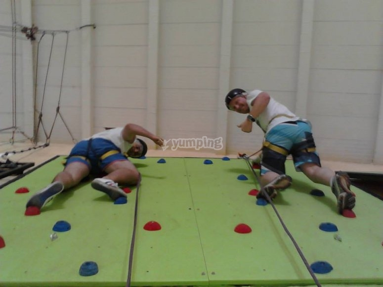 In the climbing event