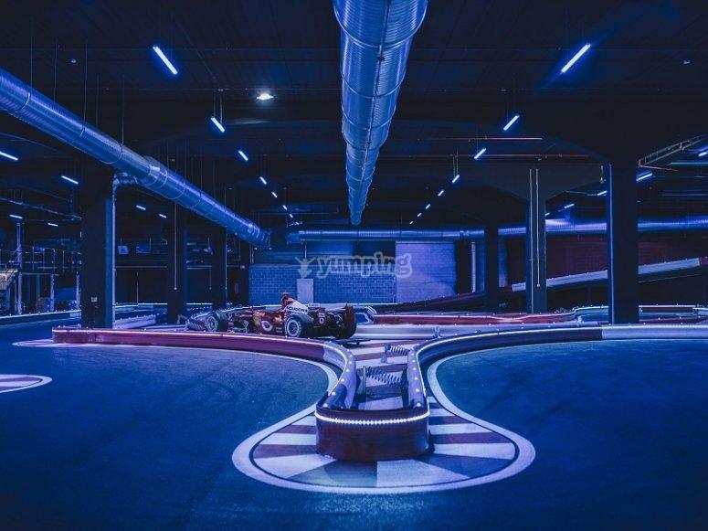 Tramo del circuito indoor