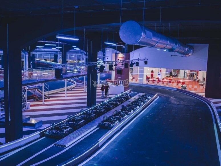 Vista global de las instalaciones del karting
