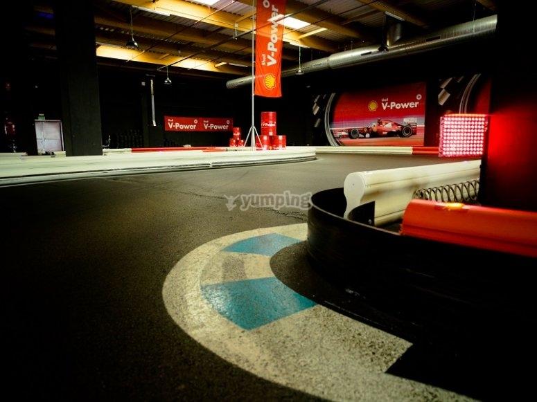 Curva del karting