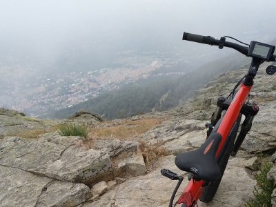 E-bike route to Monte Abantos medium level 4h