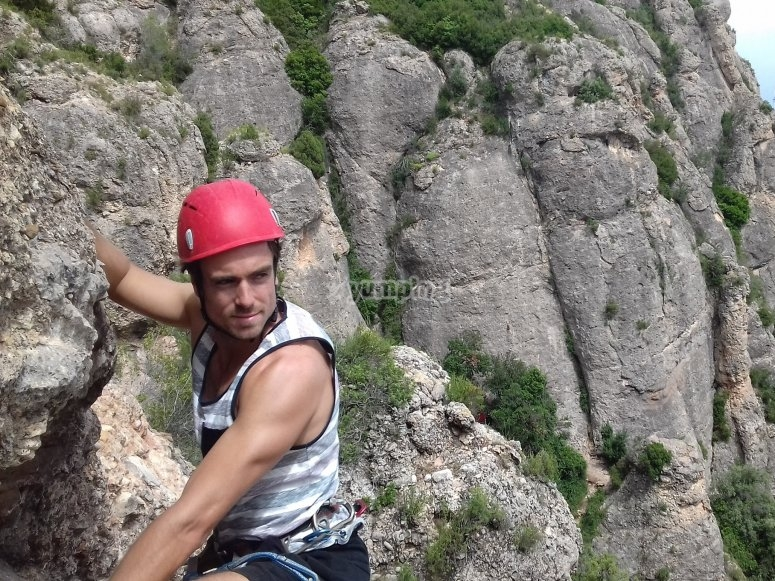 巴塞罗那附近的攀岩