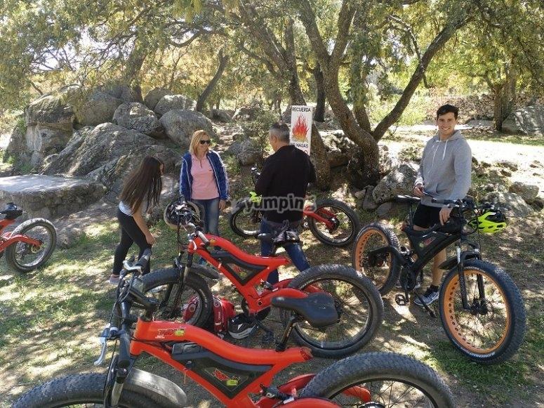 Ruta en bicicleta electrica