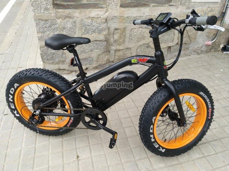 Uso de bici infantil