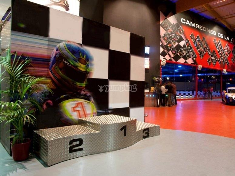 Sube al podium del karting