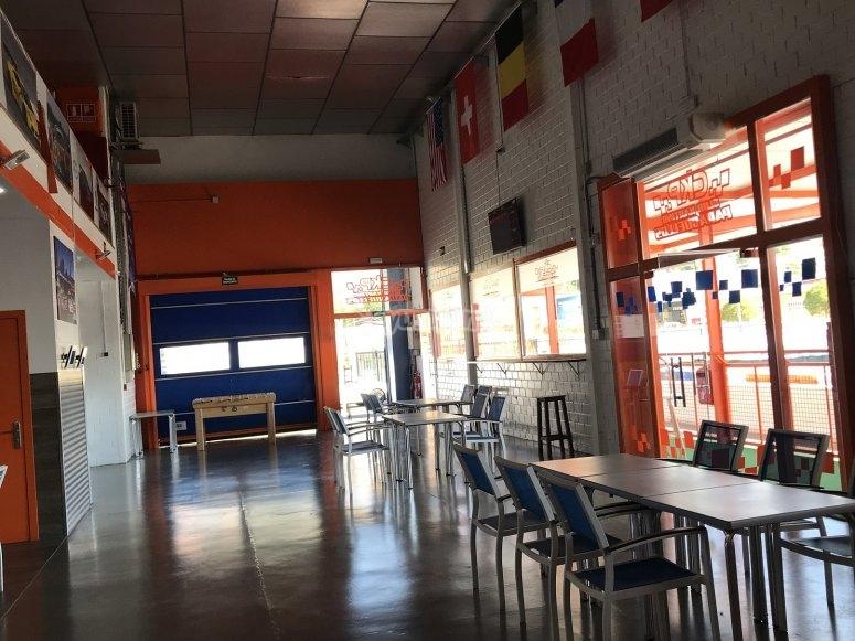 Caffetteria con calcio balilla
