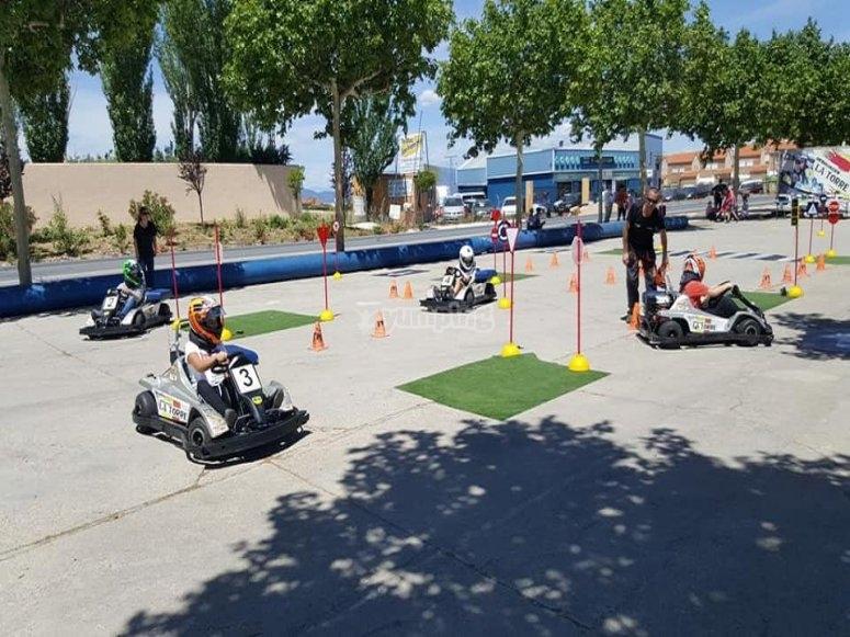 Circuito de karts adaptado a los más peques por Madrid