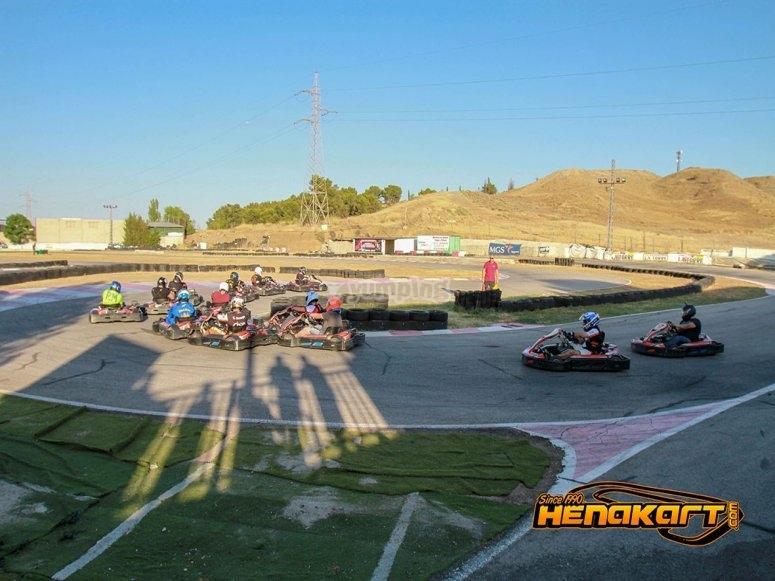Los más peques compitiendo en carrera de karts en Torrejón