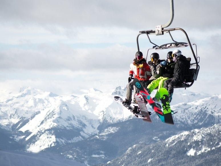Dias de esqui con amigos