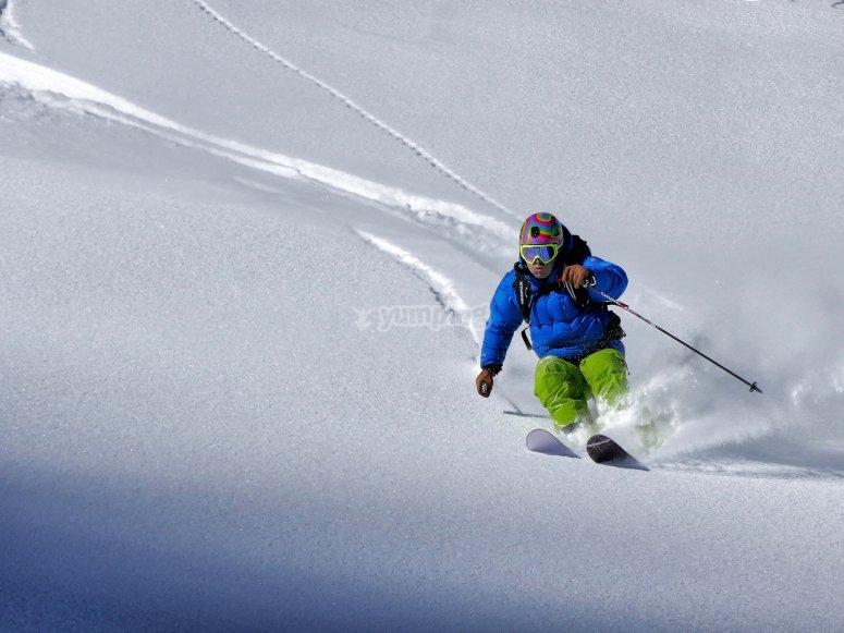 Esquiando en Espot