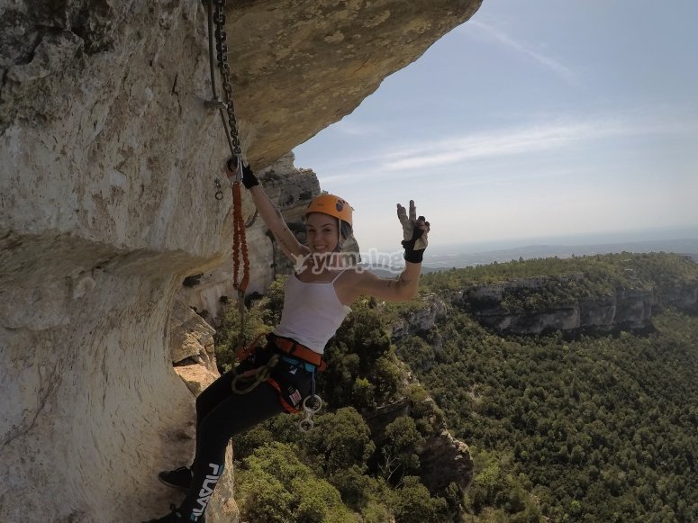 Via ferrata in the surroundings of Penedes