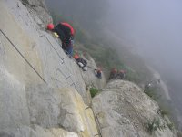 Learn how to cross the via ferrata