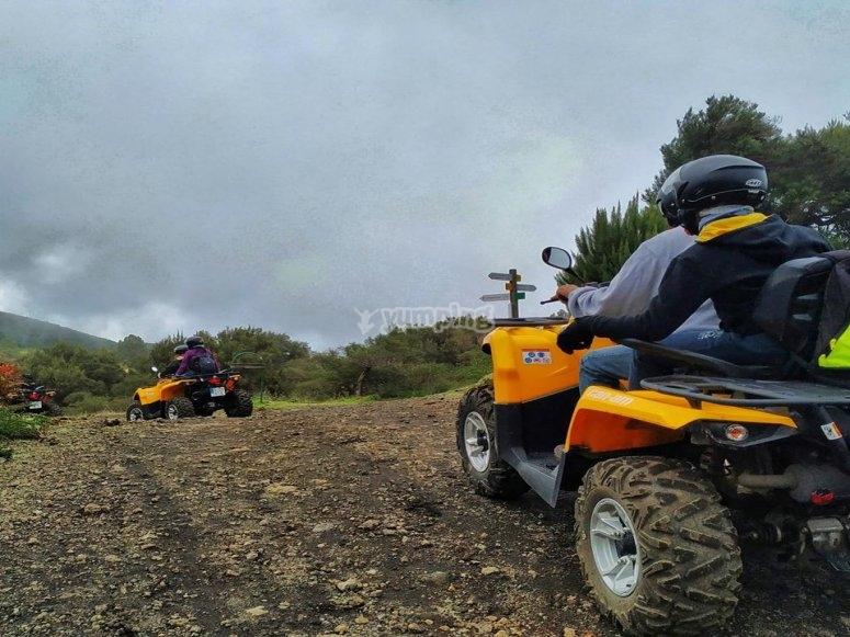 Quad ride towards La Cumbre