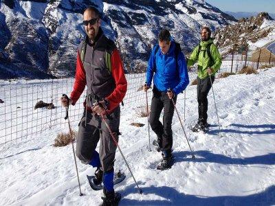 Ruta principiantes raquetas de nieve Sierra Nevada