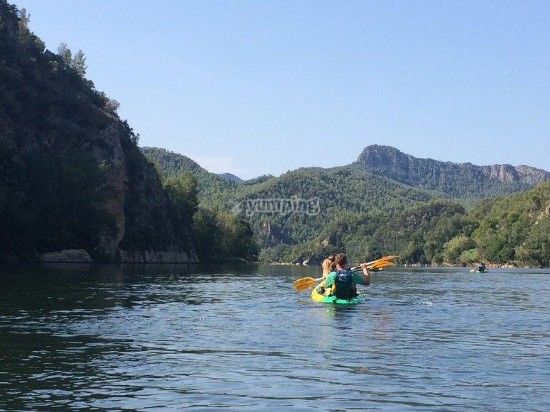 Bajando el Ebro en piragua