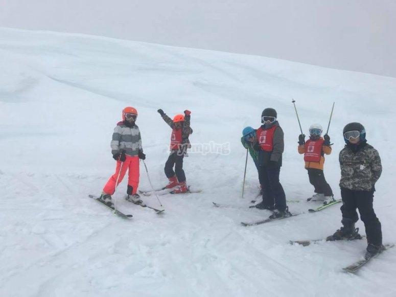 Diversion y aprendizaje esquiando