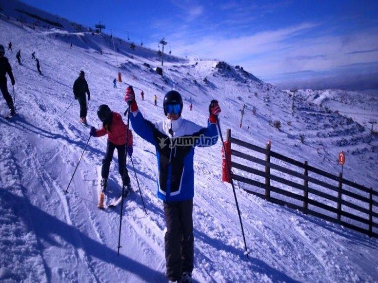 Perfeccionando tecnicas de esqui