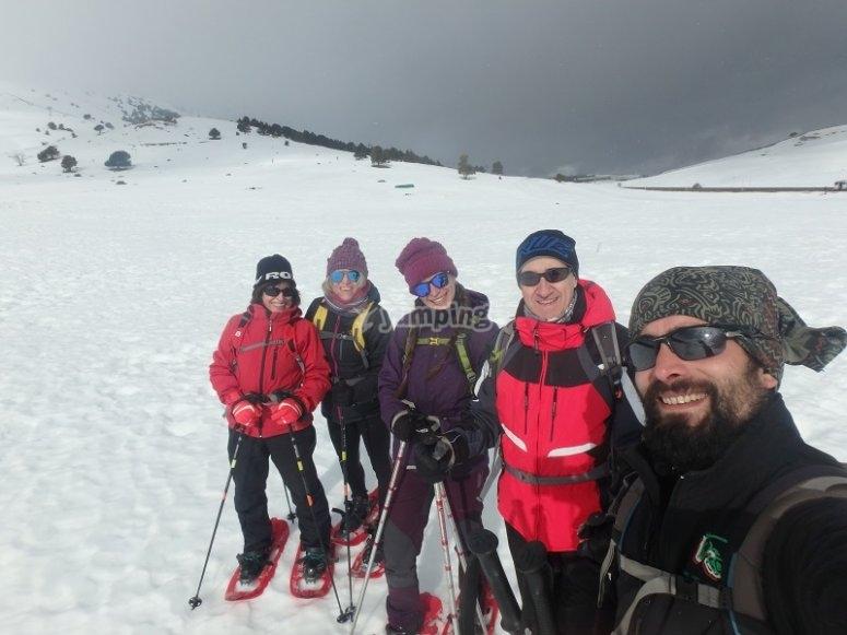 Amigos en la montaña