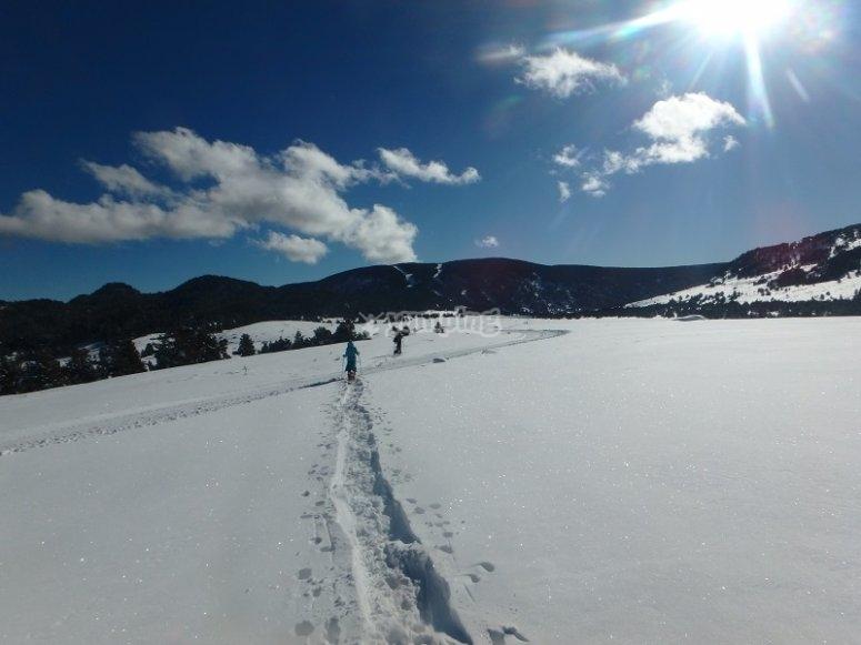 Inmensa planicie con nieve
