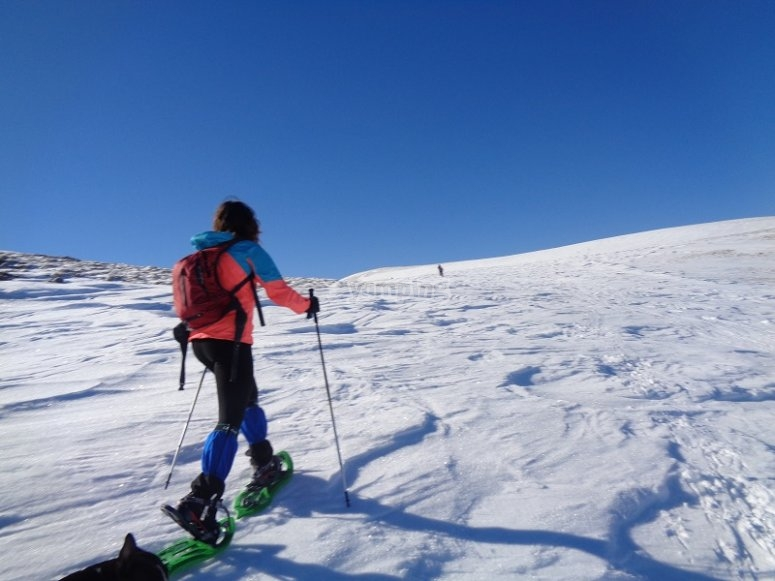 Subiendo la ladera nevada