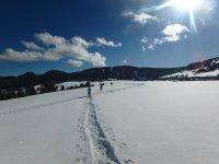 巨大的雪地平原