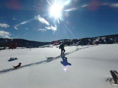 Snowshoes ascent to Gallina Pelada mountain