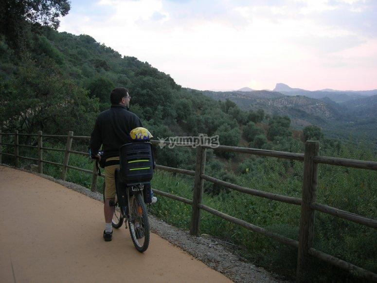 Vía Verde de la Sierra en bicicleta