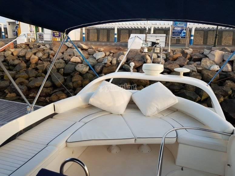 El interior de nuestra embarcacion