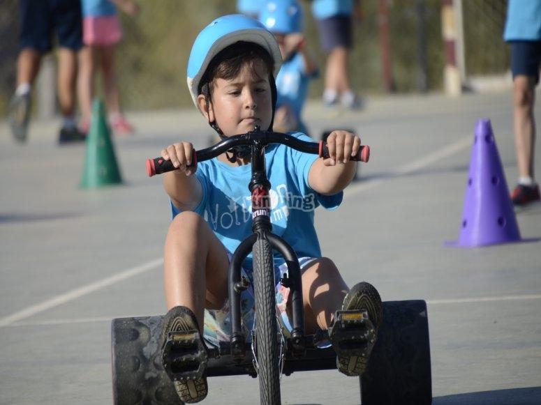 Kid on the Drift Trike