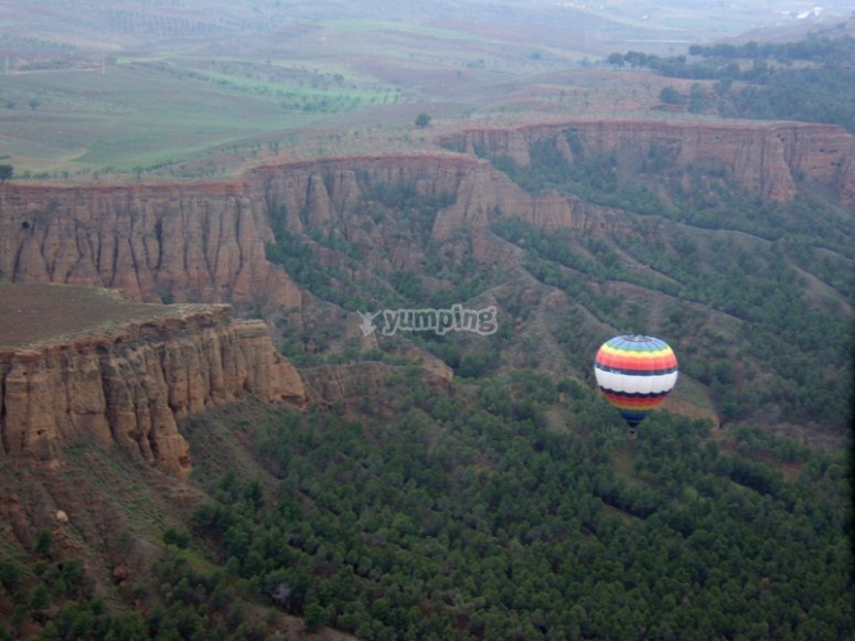 Experience flying on a balloon