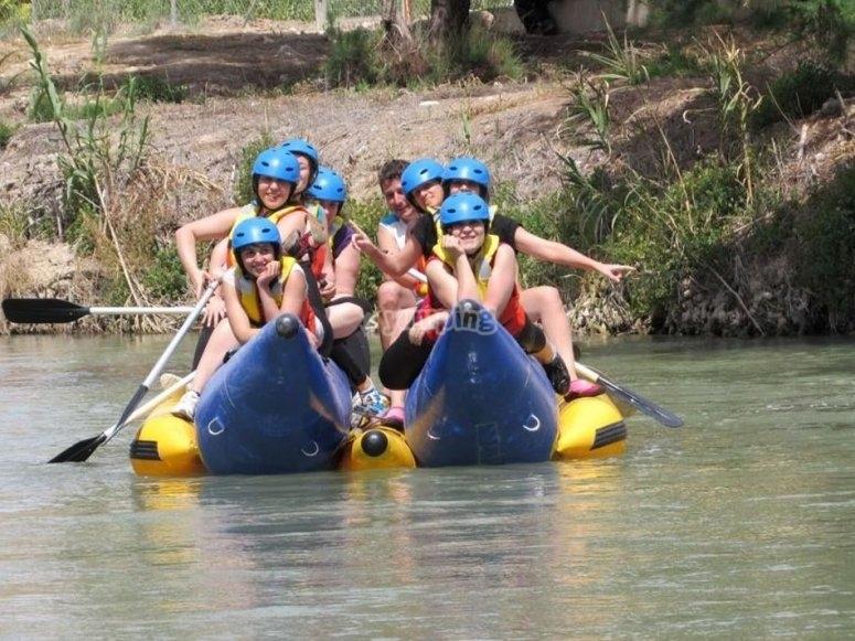 Rafting group in Murcia