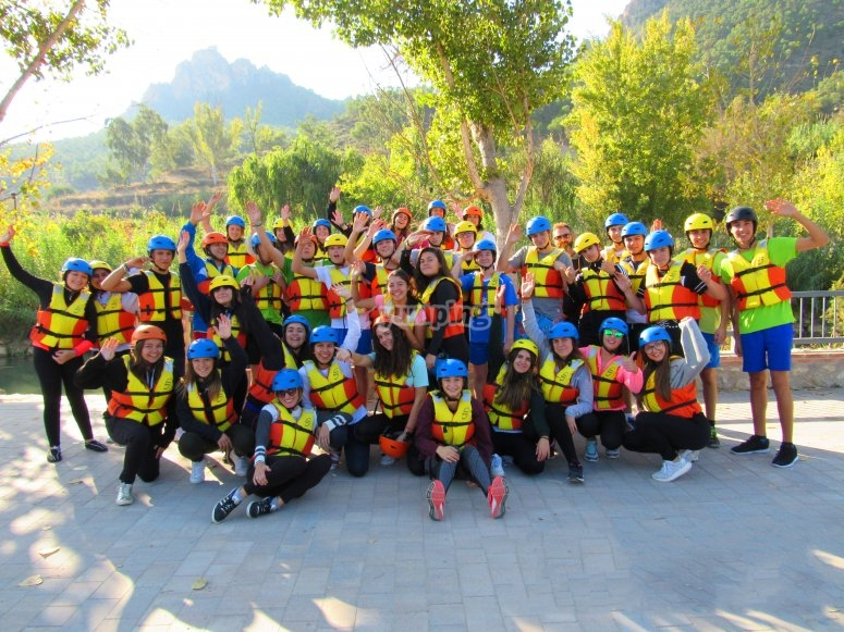 Rafting in the Segura with children