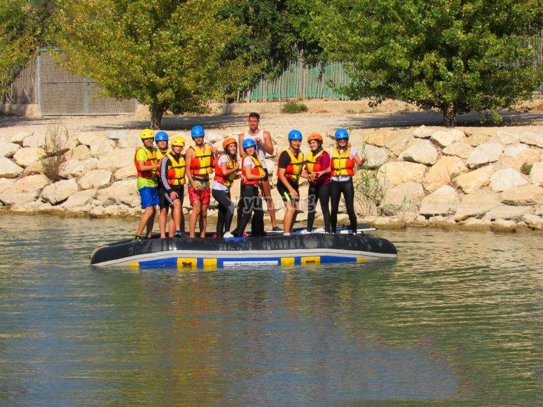 Children ready for rafting
