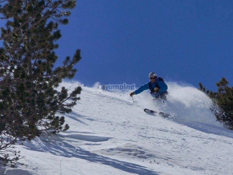 Descenso de esqui